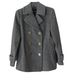 Lands End Luxe Wool Peacoat